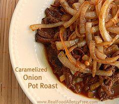 Caramelized Onion Pot Roast in the Crock Pot