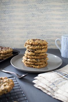 Oatmeal Chocolate Chip Cookies | The Flourishing Foodie {these look like the ultimate! with quick and rolled oats and a hint of cinnamon}