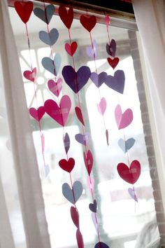 Heart Garland For Valentines Day