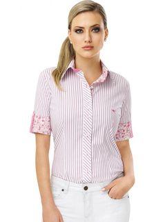 28 melhores imagens de Camisas Sociais Femininas Listradas  5b2187f5128