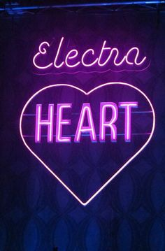 electra heart neon sign. marina and the diamonds?