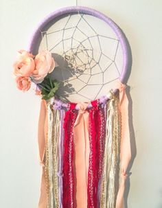 Bohemian Dreamcatcher Purple and Pink by BlairBaileyDesign on Etsy