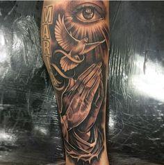 Sleeve, religious, praying hands