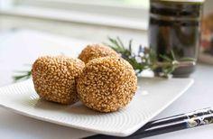 Sesame black bean balls