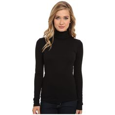 Splendid 1x1 Long Sleeve Turtleneck Women's Long Sleeve Pullover ($58) ❤ liked on Polyvore featuring tops, sweaters, long sleeve sweaters, splendid sweaters, long pullover sweater, ribbed turtleneck sweater and polo neck sweater
