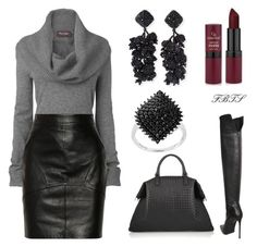 Cold Weather Bound by flybeyondtheskies on Polyvore featuring Phase Eight, T By Alexander Wang, Le Silla, Bottega Veneta and NOIR Sachin + Babi