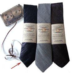 recycled cassette tape tie / alyce santoro
