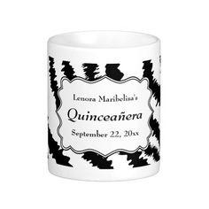 Zebra Print Pattern Quinceanera Mugs