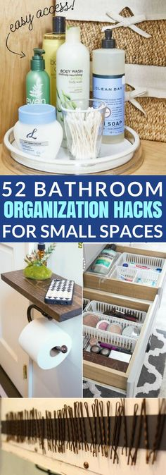 These 52 Bathroom Organization Hacks Are AMAZING For Small Spaces! If you have a tiny bathroom, you need this in your life!