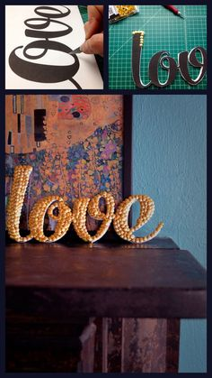 Easiest DIY Crafts of All Time - 5.DIY Letter Art - Diy & Crafts Ideas Magazine