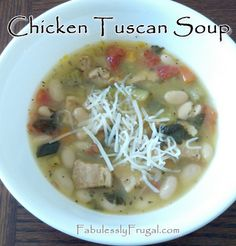 Want a delicious fall soup a little on the lighter side? Try this chicken tuscan soup!
