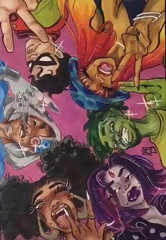 Black Cartoon Characters, Black Girl Cartoon, Dope Cartoon Art, Cartoon Art Styles, Dope Cartoons, Black Love Art, Black Girl Art, Art Girl, Arte Dope