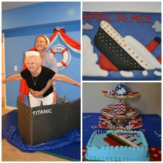 Ideas for a Titanic birthday 13th Birthday Parties, 10th Birthday, Birthday Party Themes, Birthday Ideas, Birthday Cakes, Titanic Cake, Titanic Boat, Cruise Ship Party, Cruise Theme Parties
