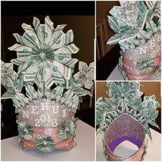 Items similar to Butterfly money lei on Etsy Money Lei, Money Origami, Money Cake, Crown Money, Money Creation, Folding Money, Diy Crown, Origami Jewelry, Rainbow Loom Bracelets