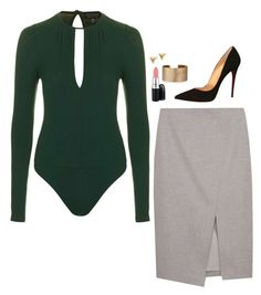 """""""Iris West Inspired Outfit"""" by daniellakresovic ❤ liked on Polyvore featuring Topshop, MAC Cosmetics, Panacea and Christian Louboutin"""