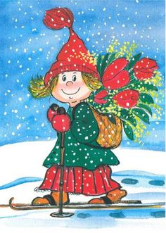 Postcrossing postcard from Finland Christmas Rock, Magical Christmas, Christmas Images, Vintage Christmas, Winter Illustration, Cute Illustration, Animated Clipart, Old Fashioned Christmas, Winter Art