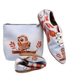 Blue Owl Foldable Sneaker & Case on #zulily! #zulilyfinds $34.99