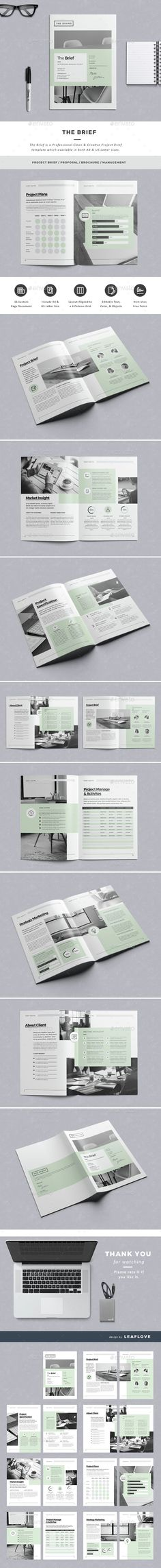 Patterns The Brief — InDesign Template #resume #template #2017