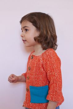 babaà — Cardigan No.2 Orange