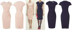 LK Bennett's Marina Fitted Dress ($395) in either 'barley,' or 'dark navy' – @WhatKateWore.com