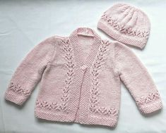 Dk up to 1094 yds. Ravelry: Project Gallery for Lacy Cardigan, Hat, and Shoes pattern by Sirdar Spinning Ltd. Kids Knitting Patterns, Baby Cardigan Knitting Pattern, Knitted Baby Cardigan, Knit Baby Sweaters, Knitted Baby Clothes, Knitting For Kids, Baby Patterns, Free Knitting, Knitted Hats