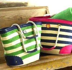 Cute beach bags!  Time for the beach! www.floridabeachbums.com