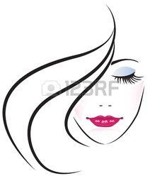 Visage De Jolie Femme Silhouette Clip Art Libres De Droits , Vecteurs Et Illustration. Image 16099615.