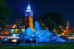 JC Nichols fountain on the Plaza Kansas City