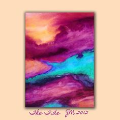 Abstract Watercolor Art Print in colorful vibrant di RoveStudio, $27.00