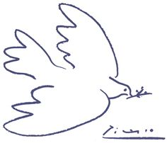 1949. 'The Dove of Peace' by Pablo Picasso #deepcor #art #picasso #dove #peace #doveofpeace #pablopicasso #symbol