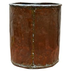 Mid-19th Century Belgian Copper Bin | From a unique collection of antique and modern trash cans at https://www.1stdibs.com/furniture/more-furniture-collectibles/trash-cans/