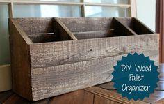 diy wood desk organizer mail sorter, organizing, painted furniture