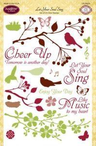 Justrite Let Your Soul Sing Stamp Set