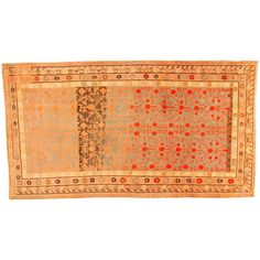 Antique Khotan Decorative Oriental Carpet in Gallery Size, circa 1890 | From a unique collection of antique and modern central asian rugs at https://www.1stdibs.com/furniture/rugs-carpets/central-asian-rugs/