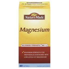 Maximum strength for individuals diagnosed with low levels of magnesium Helps restore healthy levels of magnesium in adults with very low levels Supports essential nerve, muscle and heart function Magnesium Supplements, Heart Function, Restore, Count, Image Link, Strength, Muscle, Nutrition, Healthy