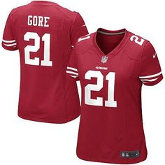 Nike Elite Womens San Francisco 49ers http://#21 Frank Gore Team Color Red NFL Jersey$109.99