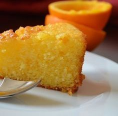 Give your dessert an Italian flavour with this moist and fruity polenta cake, from BBC Good Food magazine. Orange Polenta Cake, Lemon Polenta Cake, Polenta Cakes, Bbc Good Food Recipes, Sweet Recipes, Baking Recipes, Cake Recipes, Dessert Recipes, Food Cakes