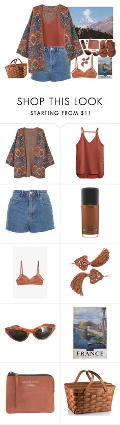 """""""Warm Autumn"""" by ritaflagy ❤ liked on Polyvore featuring Violeta by Mango, H&M, Topshop, MAC Cosmetics, Monki and Acne Studios"""