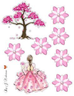Cartoon Girl Images, Girl Cartoon, Birthday Cake Toppers, Cupcake Toppers, Romantic Girl, Unicorn Cake Topper, Cakes For Women, 65th Birthday, Cake Images