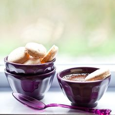 This is actually a link to a recipe, but I'm really loving the tableware!!!!   Chocolate Whiskey Pots de Creme