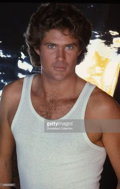Actor David Hasselhoff poses for a portrait session wearing tank top in 1981 in Los Angeles, California.