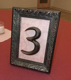 DIY table number inspiration