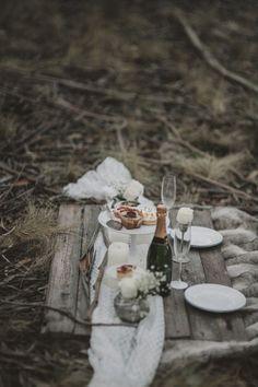 Winter engagement picnic idea