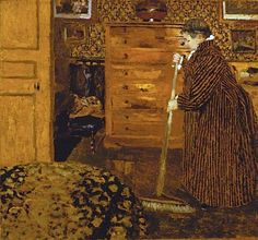 Jean Édouard Vuillard (French artist, 1868-1940) Woman Sweeping 1899