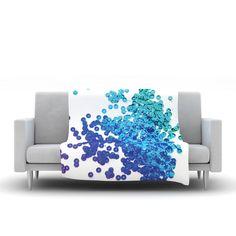 "Louise Machado ""Balance Blue"" Fleece Throw Blanket"