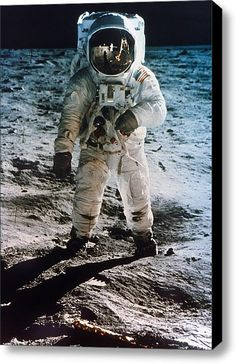 "Buzz Aldrin, Astronaut on the Moon in 1969. ""That's one small step for man, one giant leap for mankind.""--Neil Armstrong."