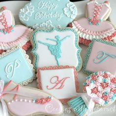 Beautiful ballerina cookies by Cookies With Character Fancy Cookies, Sweet Cookies, Iced Cookies, Cute Cookies, Cupcake Cookies, Sugar Cookies, Xmas Cookies, Sweet Treats, Ballerina Cookies
