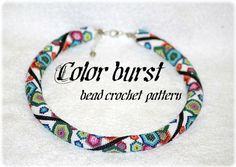 Farbsynchron bunten geometrischen Sechseck Perle häkeln Seilmuster