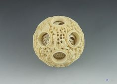 1800's Chinese Carved Ivory Puzzle Ball Puzzles, Dragon Ball, Balls, Mystery, Asia, Porcelain, Chinese, Ivory, Carving