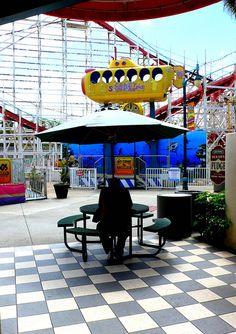 Old Amusement Park in Belmont Beach San Diego, CA